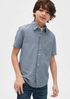 Gap Kids Short Sleeve Chambray Shirt