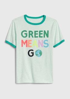Gap Kids Short Sleeve Earth Day Ringer T-Shirt