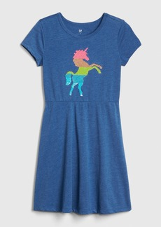 Gap Kids Short Sleeve Fit and Flare Dress