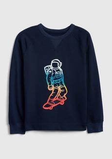 Gap Kids Skater Graphic Sweatshirt