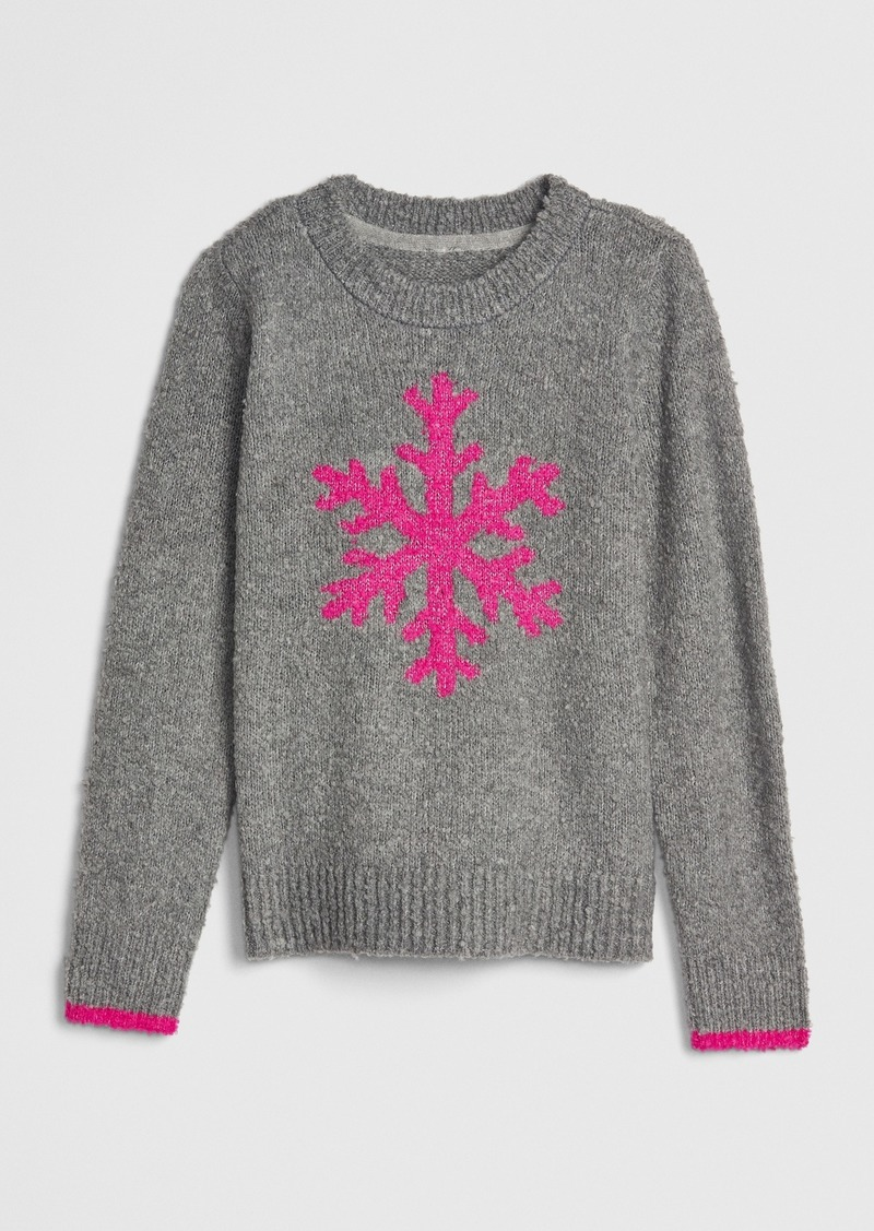 Gap Kids Intarsia Snowflake Sweater