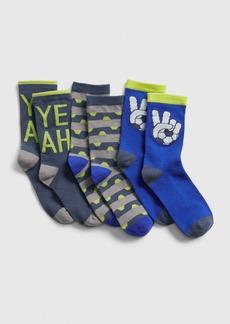 Gap Kids Soccer Crew Socks (3-Pack)