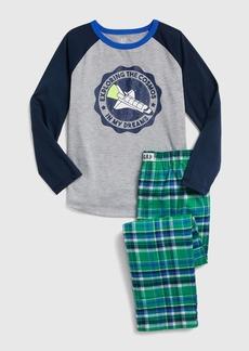Gap Kids Space Flannel PJ Set