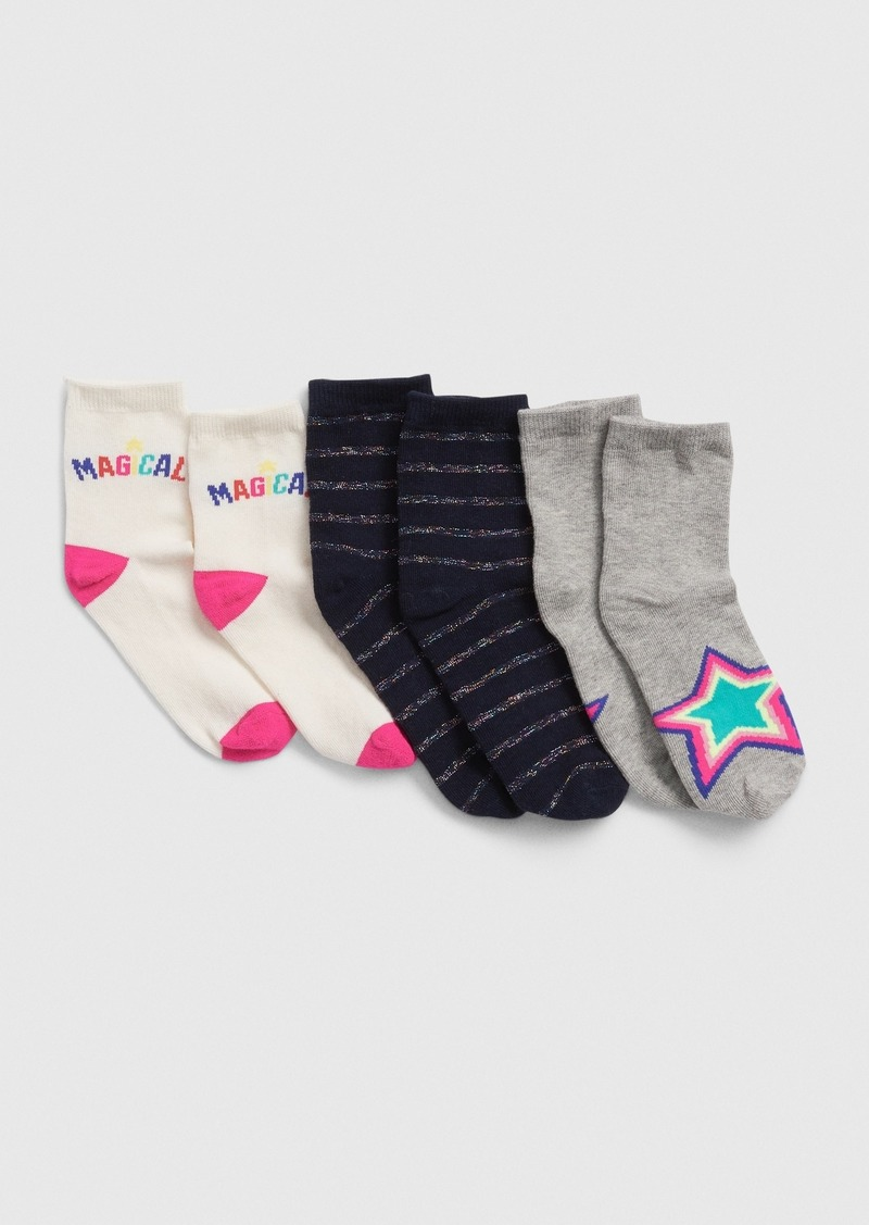 Gap Kids Star Crew Socks (3-Pack)