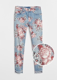 Gap Kids Step-Hem Floral Jeggings with Fantastiflex