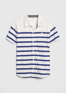 Gap Kids Stripe Knit Short Sleeve Shirt