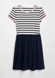 Gap Kids Stripe Mix-Fabric Dress