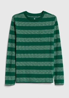Gap Kids Stripe Pocket T-Shirt