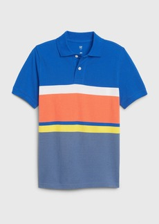 Gap Kids Striped Pique Polo Shirt