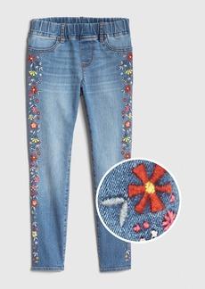 Gap Kids Floral Embroidered Jeggings with Fantastiflex