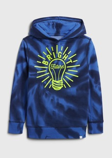Gap Kids Tie-Dye Graphic Hoodie Sweatshirt