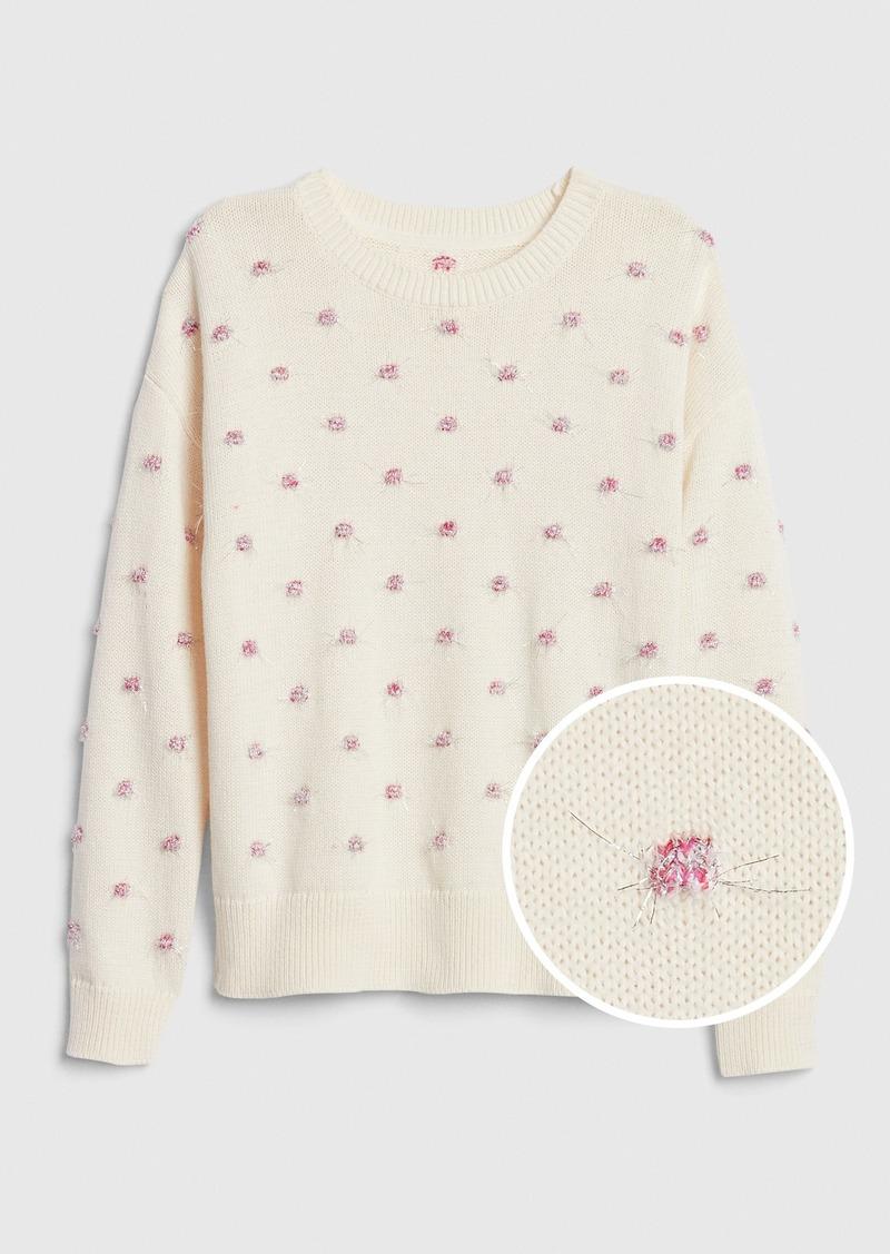Gap Kids Tinsel Dot Sweater
