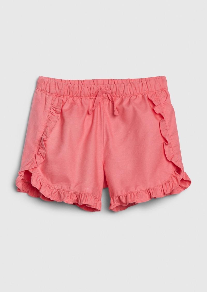 Gap Kids Twill Ruffle Shorts
