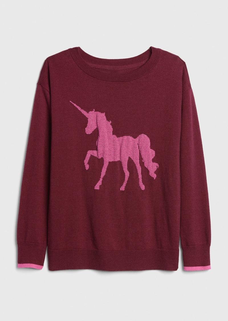 Gap Kids Unicorn Sweater