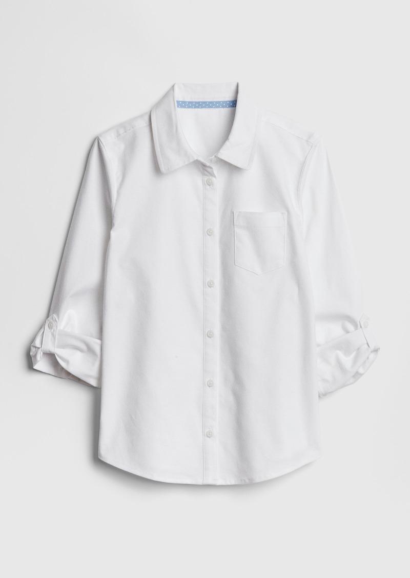 Gap Kids Uniform Convertible Long Sleeve Shirt