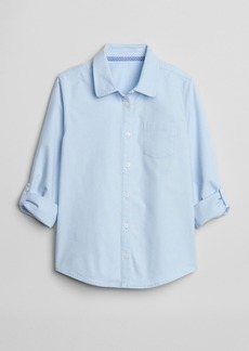 Gap Kids Uniform Convertible Long Sleeve Shirt