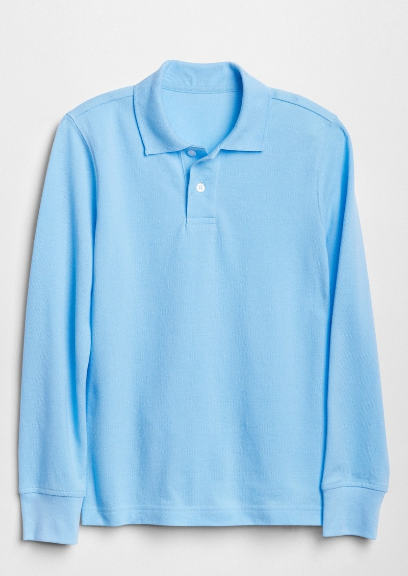 Gap Kids Uniform Long Sleeve Polo Shirt