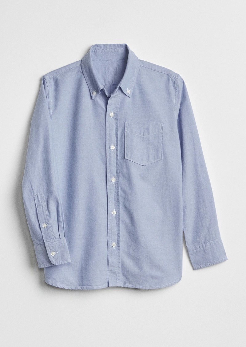 Gap Kids Uniform Oxford Long Sleeve Shirt
