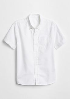 Gap Kids Uniform Oxford Short Sleeve Shirt