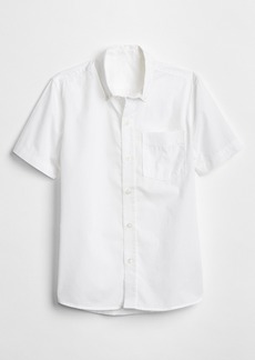 Gap Kids Uniform Poplin Short Sleeve Shirt