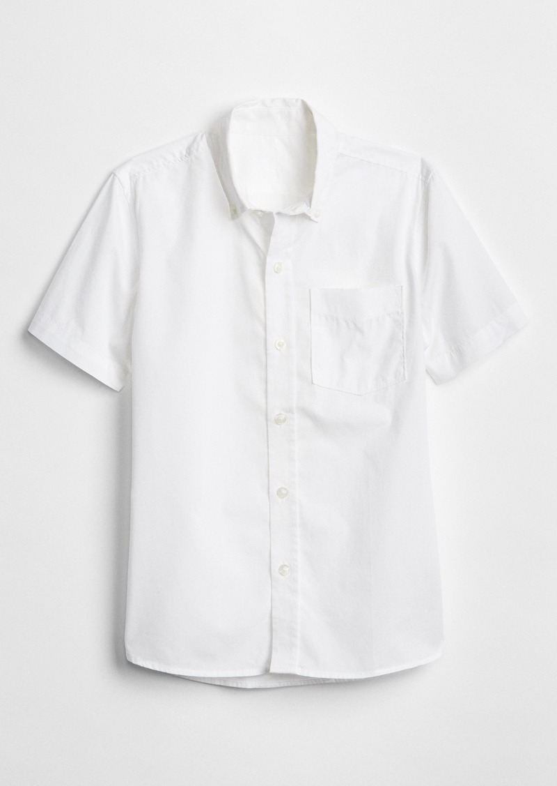Gap Kids Uniform Poplin Short Sleeve Shirt