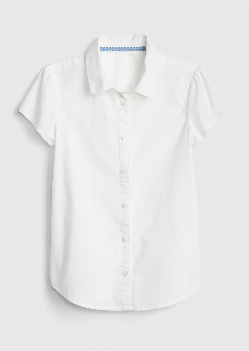 Gap Kids Uniform Short Sleeve Shirt