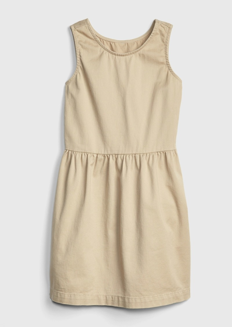 Kids Uniform Sleeveless Dress with Gap Shield