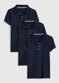 Gap Kids Uniform Stretch Short Sleeve Polo Shirt (3-Pack)