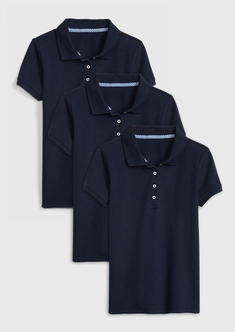Gap Kids Uniform Stretch Short Sleeve Polo Shirt (3-Pack)
