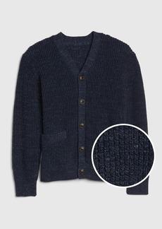 Gap Kids Waffle Knit Cardi Sweater