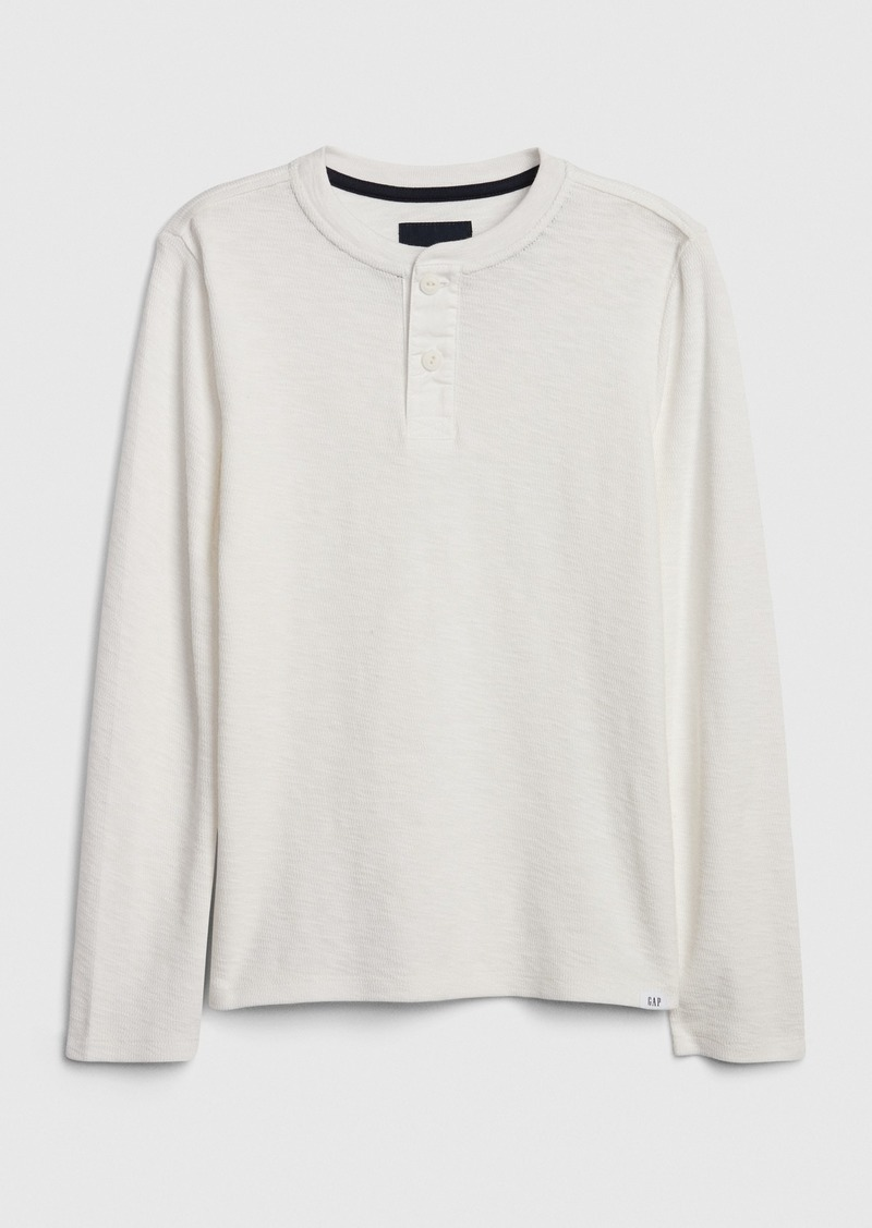 Gap Kids Waffle-Knit Henley T-Shirt