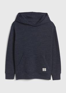 Gap Kids Waffle-Knit Hoodie Sweatshirt