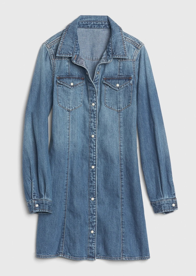 Gap Kids Western Denim Dress