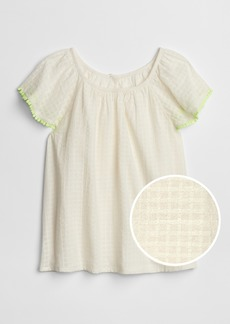Gap Kids Windowpane Flutter Top