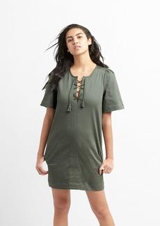 Gap Lace-Up Shift Dress