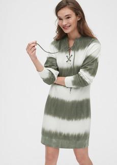 Gap Lace-Up Sweatshirt Dress