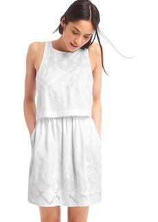 Gap Layered embroidery sleeveless dress