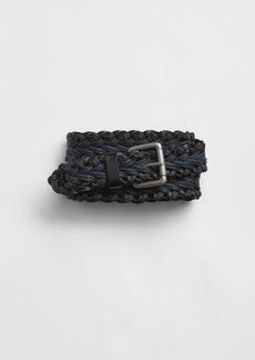 Gap Leather Trim Braided Belt