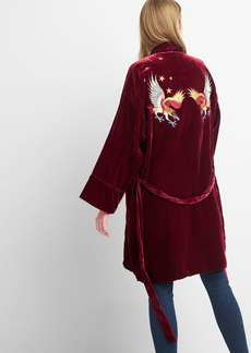 Limited Edition embroidered velvet robe jacket