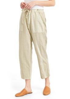 Gap Linen mix-stripe crop pants