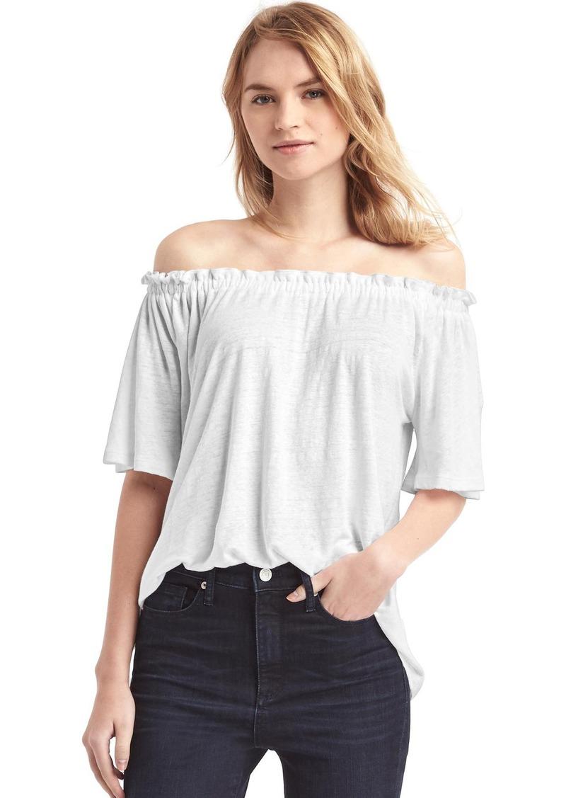 9971bf83d4dbd Gap Linen off-shoulder top