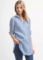 Gap Linen stripe popover tunic