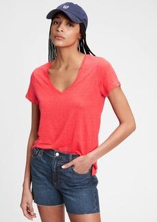 Gap Linen V-Neck T-Shirt
