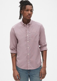 Gap Lived-In Stretch Poplin Shirt in Untucked Fit