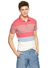 Gap Lived-in variegated striped polo