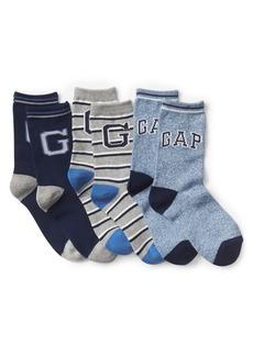Gap Logo Crew Socks (3-Pack)