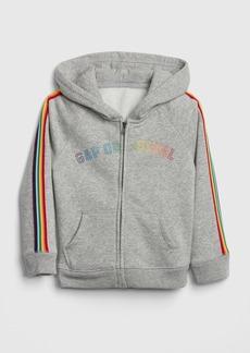 Gap Logo Embroidery Hoodie Sweatshirt in Fleece
