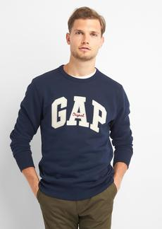 Gap Logo fleece crewneck sweatshirt