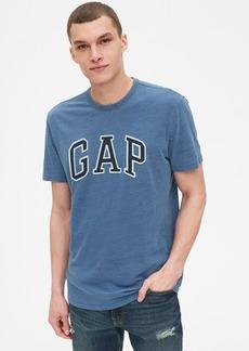 Gap Logo Indigo Crewneck T-Shirt in Slub Cotton
