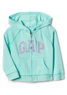 Gap Logo Raglan Zip Hoodie Sweatshirt